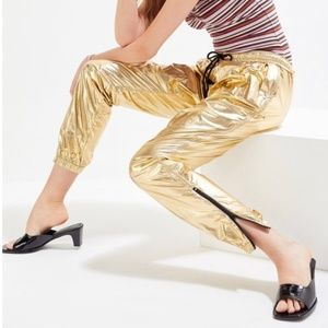 NWT Urban Outfitters Gold Joggers XS